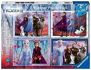 Ravensburger - Puzzle Frozen 2, 4 x 100 piezas (12885)