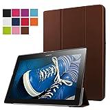 VIFLYKOO Lenovo Tab 2 A10-30f Hülle Case, mit Standfunktion und Auto Sleep / Wake Up Funktion Slim Leder Schutzhülle für Lenovo Tab 2 A10-30F Braun
