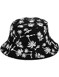 66b8d0a9105 HugeStore Summer Coconut Tree Bucket Hat Sun Hat Beach Sun Visor Hat Cap  Beach Hat Cap