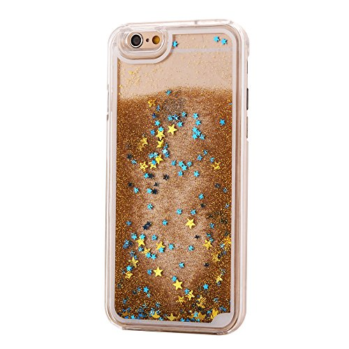 Image of Designer glitter Mobile Phone Case for iPhone 6S, 6, SE, 5S, 5, with Liquid 3d Snow Globe Glitter Effect with Colourful Stars Mobile Phone Case | TPU Bumper | High Quality | Sphinx Gear Protection Hard Case Cover for iPhone