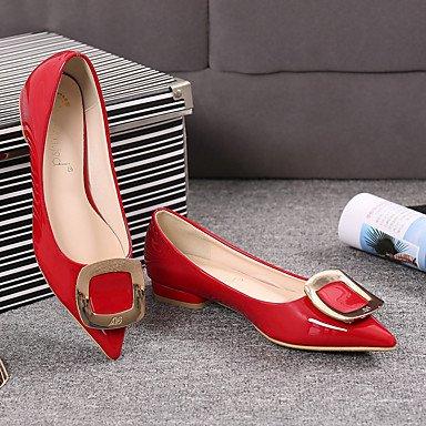 Confortevole ed elegante piatto scarpe donna Appartamenti primavera / estate / autunno casual Comfort tacco piatto altri nero / rosa / rosso / grigio a piedi Pink