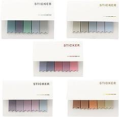 Cosanter Selbstklebende Karteikartenreiter / Klebenotizen, verschiedene Farben, 500 Blatt, 5 Stück