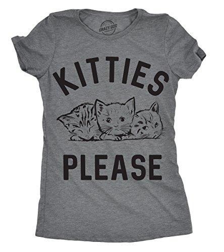 Womens Kitties Please Tshirt Cute Adorable Cat Lover Tee for Ladies