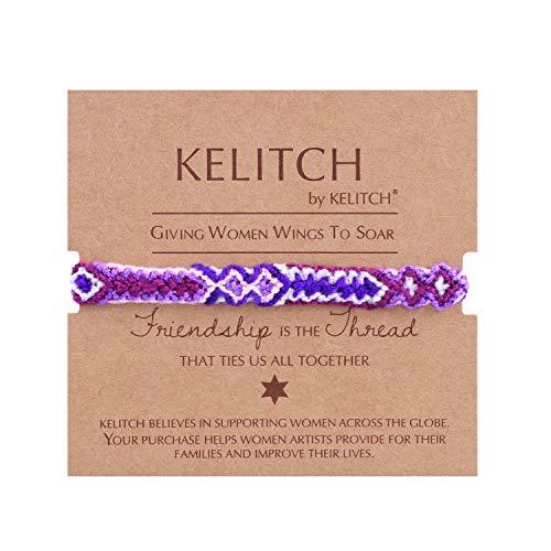 KELITCH Freundschaft Armbänder Weicher Baumwolle String Geflochtenen Strang Armbänder Böhmischen Frauen Mode Armbänder (Bunte H) (Freundschaft Armband String)