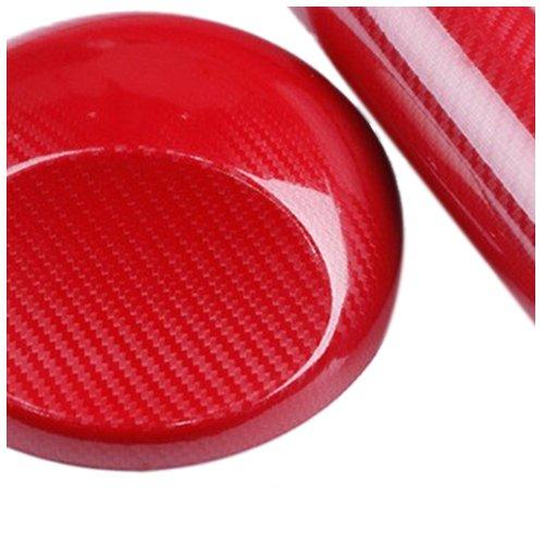 Preisvergleich Produktbild TOOGOO (R) Carbon Film 5D 152x20 cm Kleber-Aufkleber-Blatt Car Wrapping Auto Moto rot