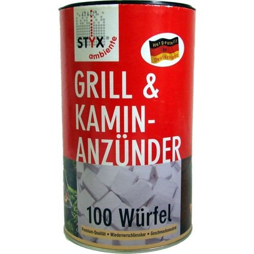 Schmalfuss Styx Grillanznder Paraffin Wrfel Inhalt 100 Stck