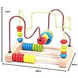 Jinzhicheng creative in legno conteggio Circles Bead Abacus Wire Maze roller Coaster giocattolo educativo