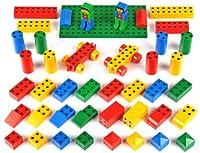 Elementi in materiale plastico di alta qualità con piccoli magneti incorporati che consentono un assemblaggio che offre infinite possibilità di gioco: mattoncini di forme e colori differenti, veicoli con ruote, personaggi ecc.Dimensioni: cilindro cm ...