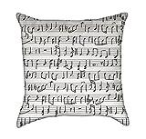 Musik & Sound schwarz und weiß werfen Kissenbezug, Polyester-Mischgewebe, schwarz / weiß, 18 x 18-Inch