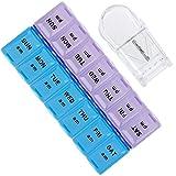 Anpro Pill Organizer and Pill Cutter 7 Day Pill Reminder Pill Box