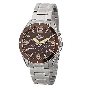 Casio Edifice – Reloj Hombre Analógico con Correa de Acero Inoxidable – EFR-553D