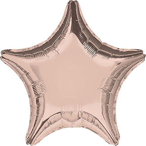 Amscan International 3618702Form Star Folienballon, Rose/Gold