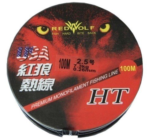 Ma-peche.fr Red Wolf - Fil Nylon 100M, Diametre du Fil: 0.50 Mm