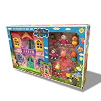 Peppa Pig beautiful Villa set Toys with all Friends  for Kids Gift