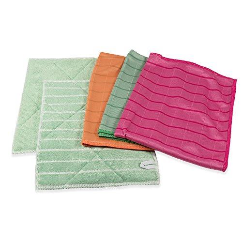 lot-de-5-pices-microfibres-bambou-couleurs-2-lavettes-et-3-lingettes