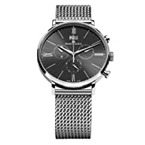 Maurice Lacroix Herren-Armbanduhr XL Eliros Chronograph Quarz Edelstahl EL1088-SS002-310