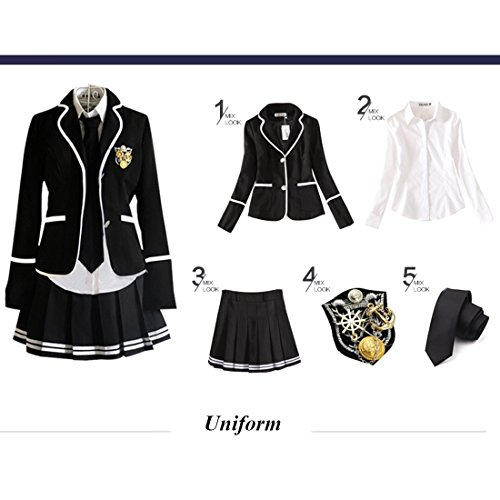 URSFUR Mädchen Japan Kostüm Langärmelige Anzug Cosplay Uniform Anime Uniform - Stil 16-L Style 15