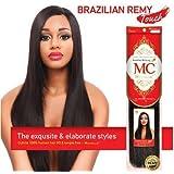 "Michelle Human Hair Blend Weave Brazilian Remy Touch Yaki 10"" - 1B (BUY 1 GET 1 FREE)"