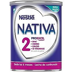 NESTLÉ NATIVA 2 - Leche de continuación en polvo - Fórmula Para bebés - A partir de los 6 meses - 800g