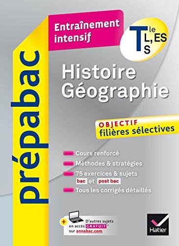 Histoire-Géographie Tle L, ES, S - Prépabac Entraînement intensif ...