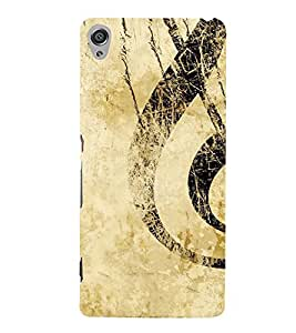 Musical Sign 3D Hard Polycarbonate Designer Back Case Cover for Sony Xperia XA :: Sony Xperia XA Dual
