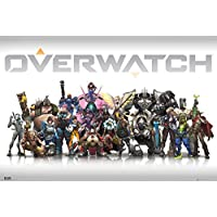 GB Posters Poster con Diseño Overwatch Characters, Madera, Multicolor, 61 x 91.5 cm