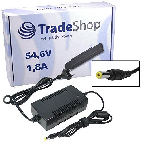 Preisvergleich Produktbild Trade-Shop Netzteil Ladegerät Ladekabel 54,6V 1,8A für 48V Akkus mit 5,5mm x 2,1mm Rundstecker für E-Bike Elektrofahrrad Pedelec Elektro Fahrrad Akkus zum Aufladen
