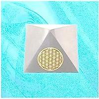 Boviswert 2 STÜCK Schungit Pyramiden Blume des Lebens ca. 50x50 mm, jeweils ca.90 bis 100g, poliert, Top Qualität... preisvergleich bei billige-tabletten.eu