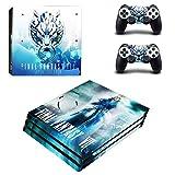 Playstation 4 Pro + 2 Controller Aufkleber Schutzfolien Set - Final Fantasy VII /PS4 P