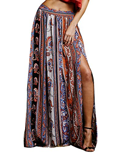 Frauen Damen Gypsy Floral Tribal Boho Maxi Strand Leger Rock Kleid