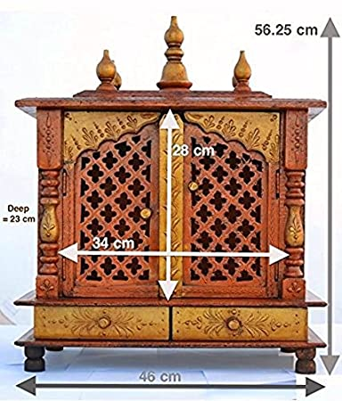 Buy Jodhpur Handicrafts Home Temple/ Wooden Temple/ Pooja Mandir ...