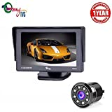 myTVS TDR-64 5 inch Dashboard & Windscreen Car Monitor with 8 LED Rear View Camera - Black