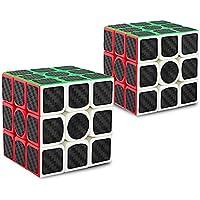 Didisky Cubo Rubik Rompecabezas, Cube IQ 3X3X3 Negro Velocidad Puzzle[2 Piezas]