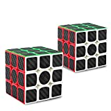 Didisky Cubo Rompecabezas, Cube IQ 3X3X3 Negro Velocidad Puzzle[2 Piezas]