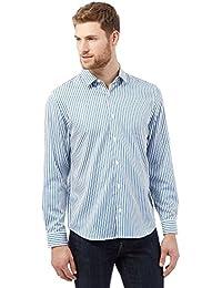 J By Jasper Conran Big and Tall Blue Stripped Shirt