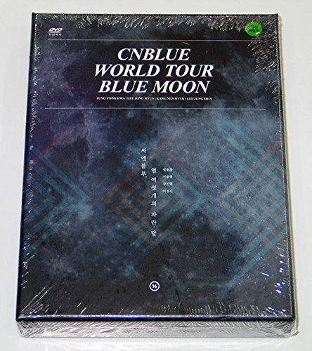 CNBLUE - 2014 CNBLUE WORLD TOUR BLUE MOON [2 Discs + 110p Photobook + Mini Poster] + Extra Gift Photocards (Cnblue Dvd)
