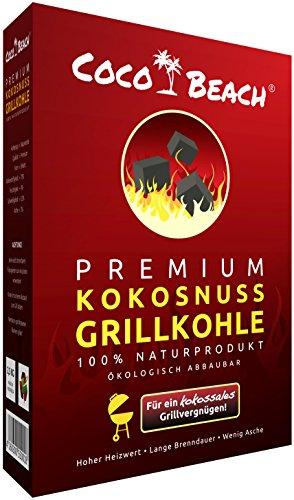 Cocobeach Premium Grillkohle 25 Kg 100 Kokosnuss Kohle Die Beste Grillkohle Fr Das Beste Fleisch Extrem Lange Brenndauer Keine Chemischen Zustze Starke Hitze