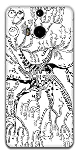 The Racoon Lean Math tree hard plastic printed back case / cover for HTC One (M8)
