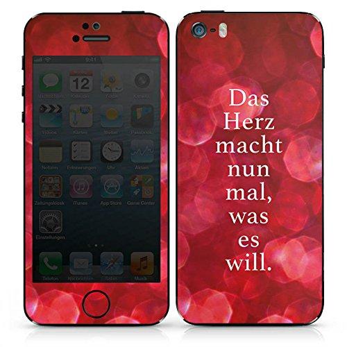 Apple iPhone SE Case Skin Sticker aus Vinyl-Folie Aufkleber statement sprüche spruch DesignSkins® glänzend