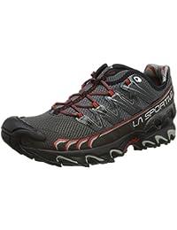 La Sportiva Ultra Raptor - Deportivos de running para hombre, color rojo/gris, talla 44.5