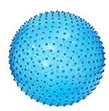 LUDI - Ballon de gymnastique bleu. Dès 2 ans. Plastique PVC épais, solide, anti-éclatement avec picots tendre. Développe la motricité et de l'équilibre. Diamètre : 45 cm - réf. 2785