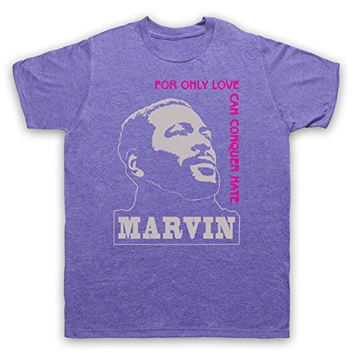 Inspiriert durch Marvin Gaye What's Going On Unofficial Herren T-Shirt Jahrgang Violett