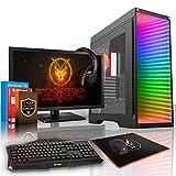 Fierce QUAKE RGB/RVB PC Gamer Paquet - Vite 8 x 3.8GHz Octa-Core AMD Ryzen 7 1700X, 2To Disque Dur, 32Go of 2133MHz DDR4 RAM / Mémoire, NVIDIA GeForce GTX 1080 8Go, Gigabyte Aorus AX370-Gaming 5 Carte Mère, GameMax Abyss RGB/RVB Boite D'ordinateur, HDMI, USB3, Wi - Fi, VR Prêt, 4K Prêt, Parfait pour les jeux haut de gamme, Windows 10 installé, Clavier (UK/QWERTY), Souris, moniteur 24 pouces, casque, 3 Ans De Garantie 761478
