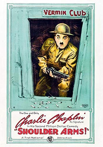 Generic Schulter Arme Film Foto Poster Charlie Chaplin Film Kunst Komödie Classic 2 (A5-A4-A3) - A5 - Charlie Chaplin-film Poster