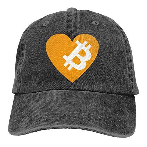 Naiyin Bitcoin Logo 2017 Washed Retro Adjustable Cowboy Hat Trucker Cap for Man and Woman