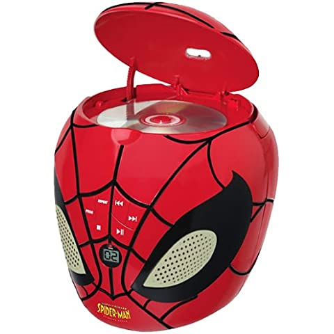 Spider-Man - Reproductor CD , color rojo (Lexibook RCD200SP)