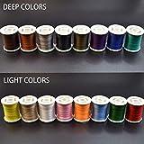 Phad Fishing 16 Spulen 150D Fliegen Binden Faden Fliegenbinden Material für Nymphe & Streamer (16 Farbe (8 Tiefe farben+ 8 Helle Farben))