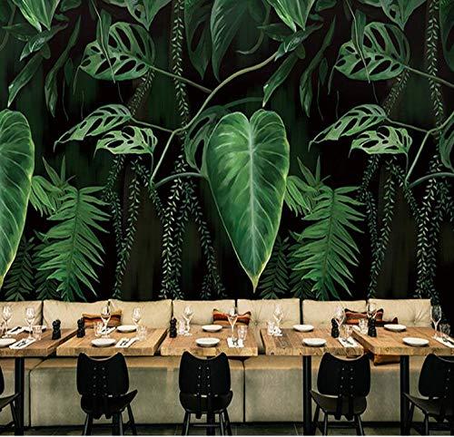 Worryd Fondo de pantalla 3D Murales Hd Naturaleza Bosque verde Árboles Rocas Fotografía de fondo Pintura de la pared Sala de estar Foto Mural, 400x280 cm