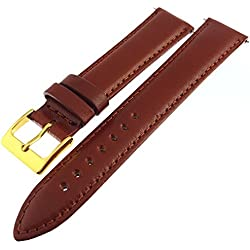 Light Brown Tan Padded Italian Nappa Leather Watch Strap 20mm
