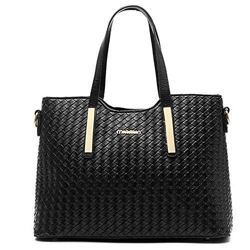 Vincico frauen 3 stück tragen tasche pu - leder weben schultertasche handtasche schulter handtasche taschen Golden
